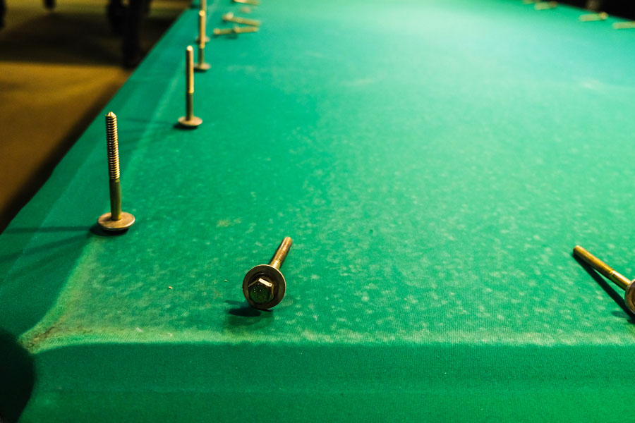 Repairing a well loved pool table
